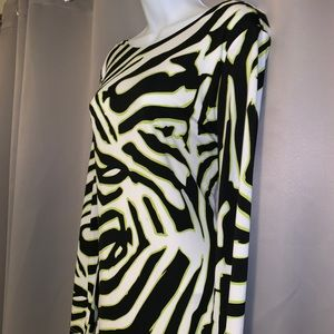 Jennifer Lopez Dresses - Zebra Print Bodycon Dress
